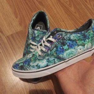 Vans womens funky flower color patter shoes